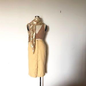 Bushwacker USA - Vintage Pale Yellow Linen Skirt